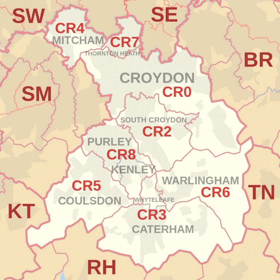 CR postcode area map